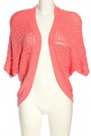 Laura Scott Short Sleeve Knitted Jacket pink casual look