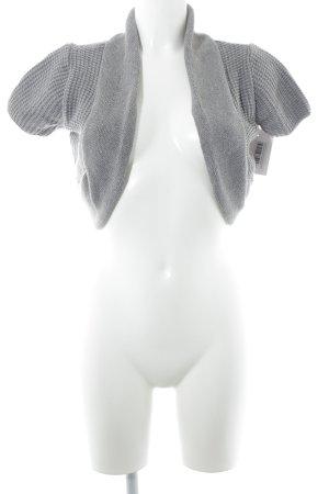 Laura Scott Cárdigan de manga corta gris tejido mezclado