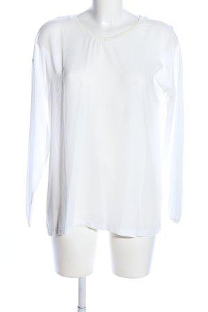 Laura Scott Damen Shirt Top Gr 32-38 wollweiß//grau NEU