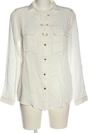 Laura Scott Long Sleeve Blouse white business style