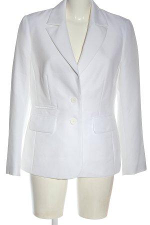 Laura Scott Lange blazer wit zakelijke stijl
