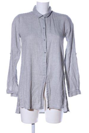 Laura Scott Long Blouse light grey weave pattern casual look