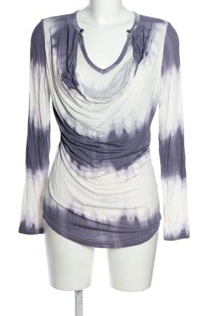 Laura Scott Longsleeve blau-weiß Farbverlauf Casual-Look