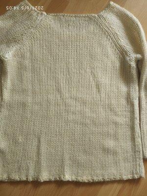 Laura Scott Pullover a maglia grossa oro-bianco sporco
