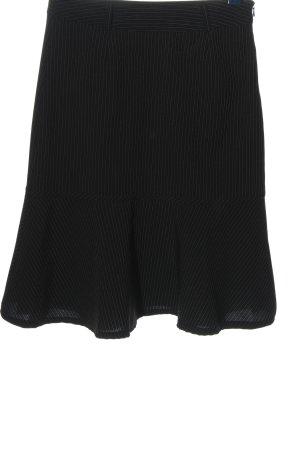 Laura Scott Spódnica midi czarny-biały Wzór w paski W stylu biznesowym