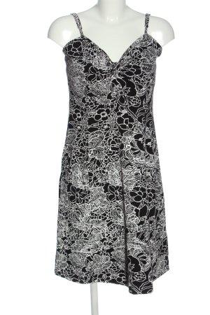 Laura Scott Minikleid schwarz-weiß Allover-Druck Casual-Look
