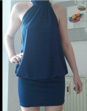 Laura Scott Vestido de cuello Halter azul