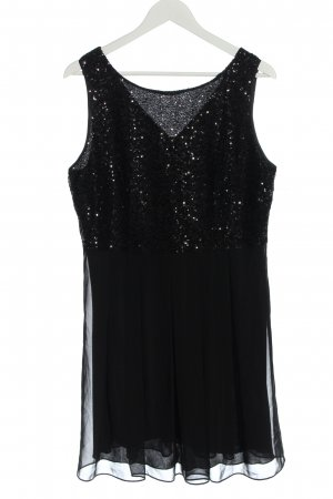 Laura Scott Evening Dress black wet-look