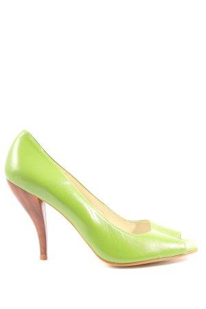 Laura Scott Czółenka z odsłoniętym palcem zielony Elegancki