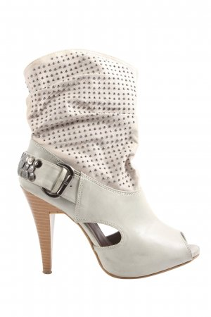 Laura Scott Stivaletto spuntato grigio chiaro-bianco sporco stile casual