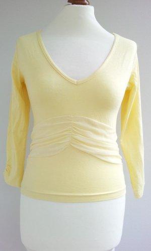Laura Scott Shirt in 34/36, Hellgelb, Jersey & Mesh-Applikation