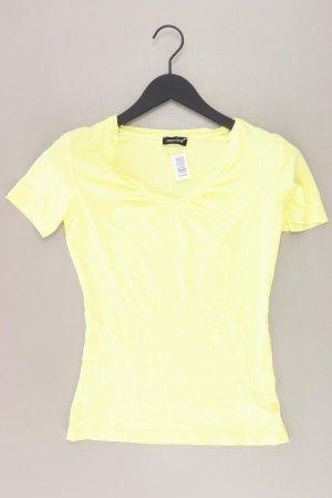Laura Scott Shirt mit V-Ausschnitt Größe 34 Kurzarm gelb aus Viskose