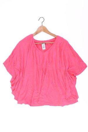 Laura Scott Shirt mit V-Ausschnitt Größe 38 Kurzarm pink aus Viskose