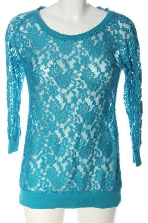 Laura Scott Spitzenbluse blau Casual-Look
