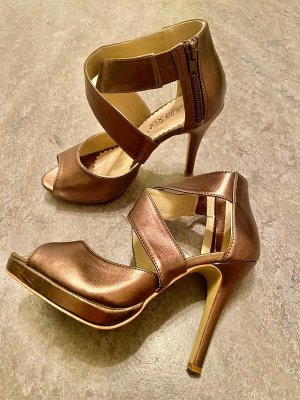 Laura Scott Cut Out Booties gold-colored-bronze-colored