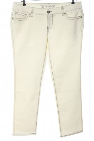 Laura Scott Jeans a gamba dritta bianco sporco stile casual