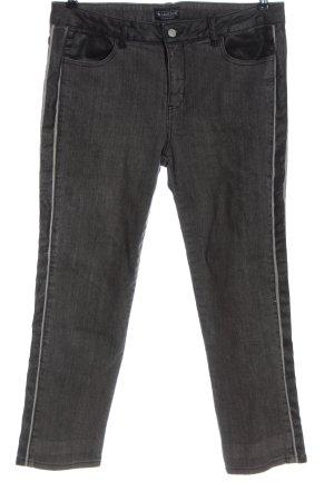 Laura Scott Jeans a gamba dritta grigio chiaro motivo a righe stile casual