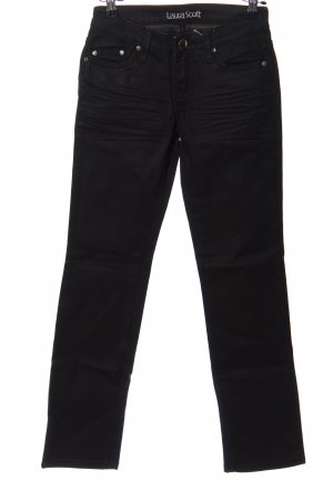Laura Scott Jeans a gamba dritta nero stile casual