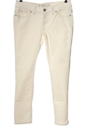 Laura Scott Jeans a gamba dritta crema stile casual