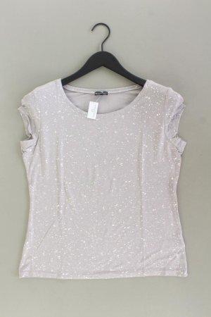 Laura Scott T-Shirt Größe 42 Kurzarm silber aus Viskose