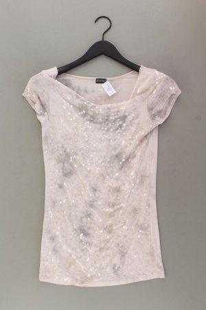 Laura Scott T-Shirt Größe S Kurzarm mit Pailletten grau