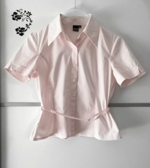 Laura Stein Blouse met korte mouwen rosé-lichtroze