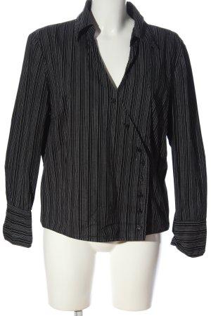 Laura Stein Langarmhemd schwarz-weiß Streifenmuster Casual-Look