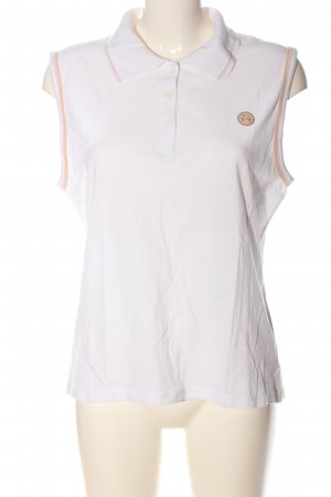 Laura Stein Top Polo blanc style décontracté