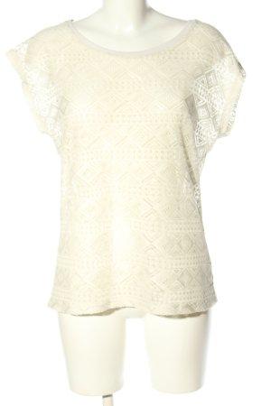 Laura T: Gehaakt shirt wit casual uitstraling
