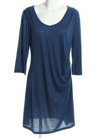 Laura T: Vestido de tela de jersey azul look casual
