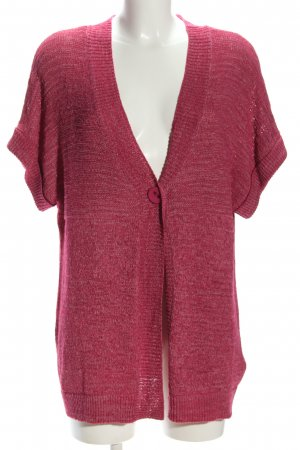 Laura T: Short Sleeve Knitted Jacket pink flecked casual look