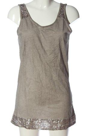 Laura T: Top largo gris claro moteado look casual