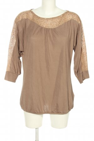 Laura T: Oversized Shirt natural white-brown flecked casual look