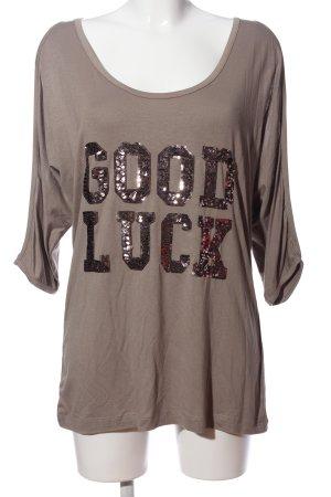 Laura T: Print-Shirt hellgrau Casual-Look