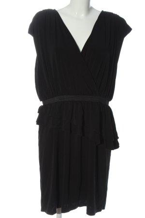 Laura T: Robe à volants noir style décontracté