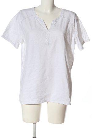 Laura Torelli Basic-Shirt weiß Casual-Look