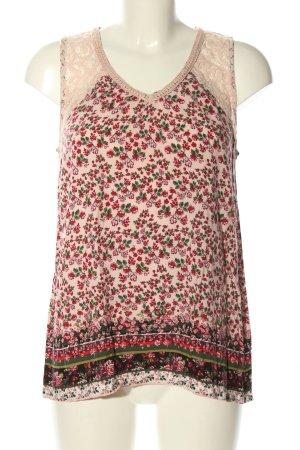 Laura Torelli Blouse Top flower pattern casual look
