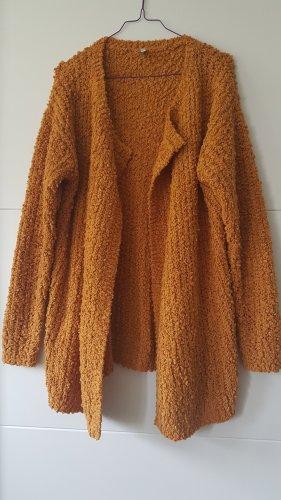 Laura Torelli Knitted Cardigan dark orange