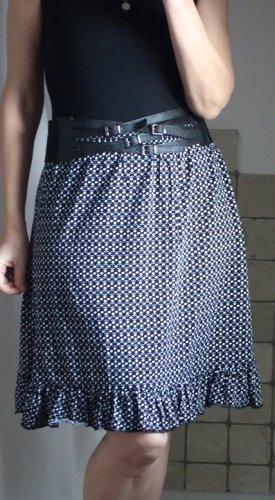 Spódnica z falbanami Wielokolorowy Tkanina z mieszanych włókien