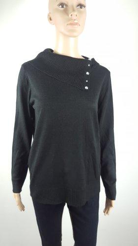 Laura Torelli Damen Strickpullover Rollkragen Pullover schwarz Größe S