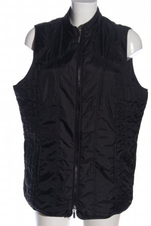 Laura Torelli Donsvest zwart quilten patroon casual uitstraling