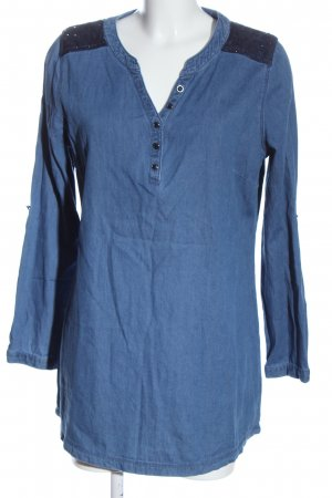 Laura Torelli Denim Blouse blue casual look