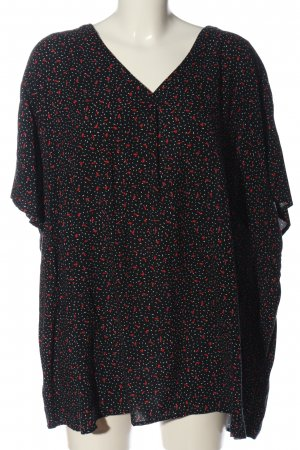 Laura Torelli Short Sleeved Blouse allover print casual look