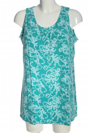 Laura Torelli Long Top turquoise abstract pattern elegant
