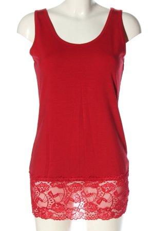 Laura Torelli Top long rouge style décontracté