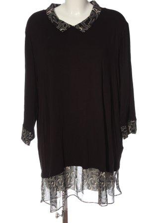 Laura Torelli Długa bluzka Abstrakcyjny wzór Elegancki