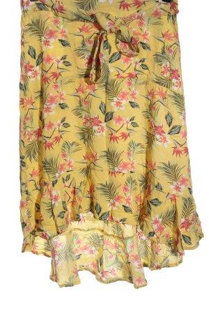 Laura Torelli Midi Skirt allover print casual look