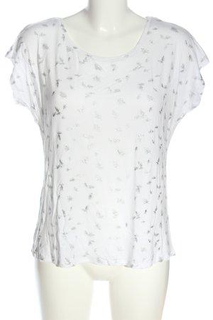 Laura Torelli Print Shirt white-light grey allover print casual look