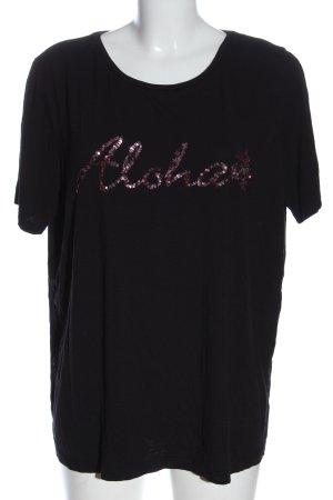 Laura Torelli Print-Shirt schwarz Schriftzug gedruckt Casual-Look
