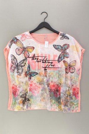 Laura Torelli Printshirt Größe S Kurzarm mehrfarbig aus Baumwolle